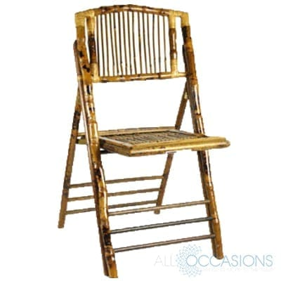 Bamboo Folding Chair All Occasions Party Rental